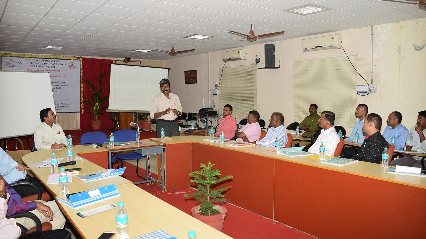 Three Days Training Program against Drug Abuse for Prison Functionaries in collaboration with APCA