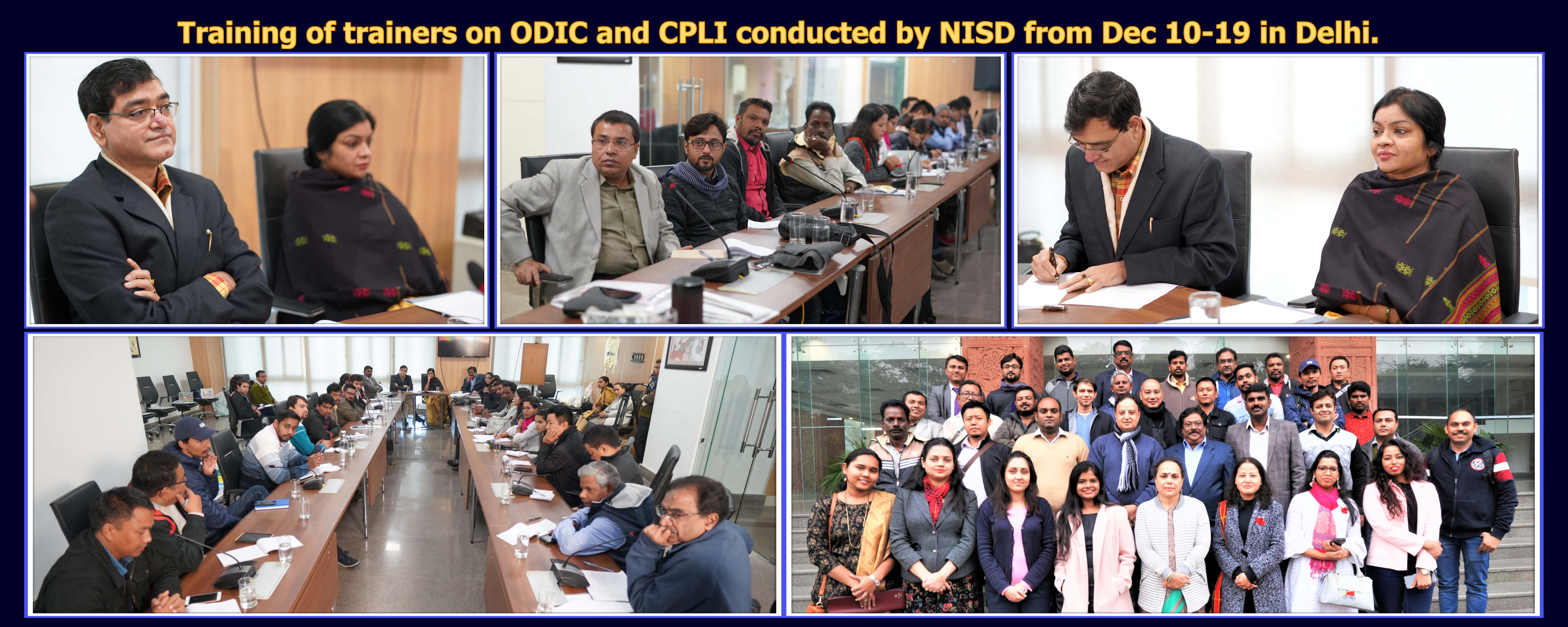 Training of trainers on ODIC and CPLI conducted by NISD from Dec 10-19 in Delhi