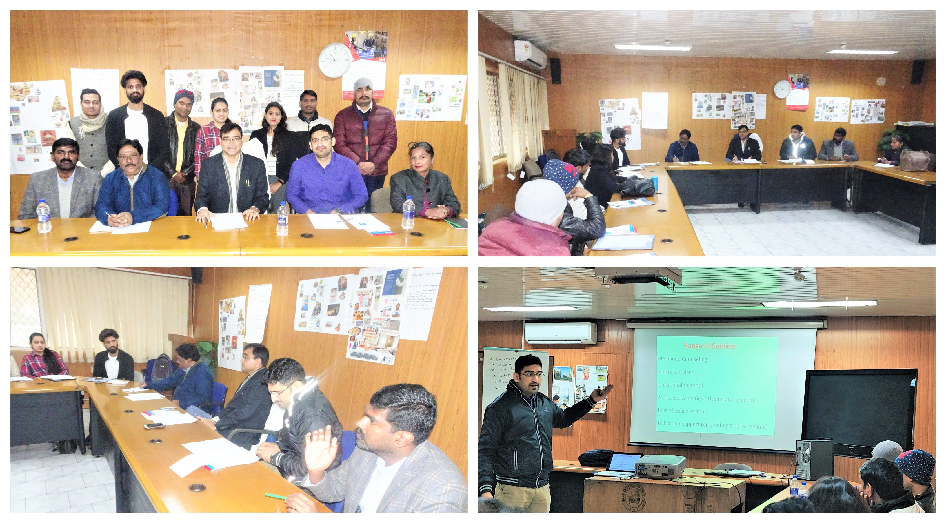 NISD conducts training of tele-counsellors from the National Drug De-Addiction Helpline in Delhi on